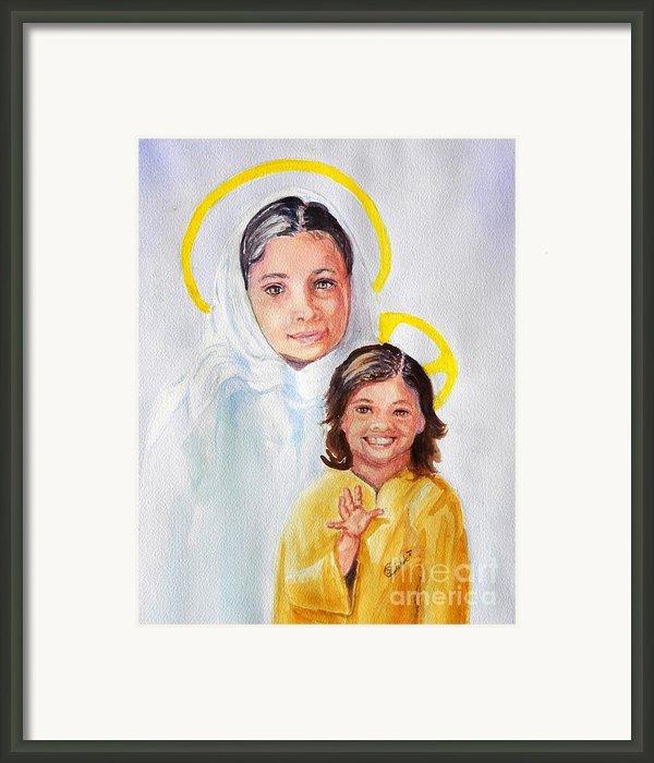 Madonna And Child Framed Print By Susan Lee Clark