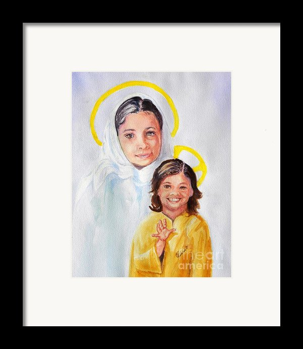 Madonna And Child Framed Print By Susan Lee Clark