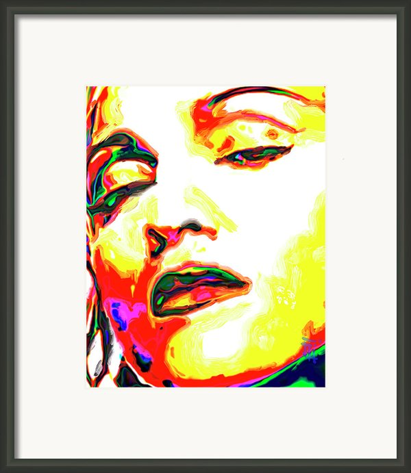 Madonna Framed Print By Byron Fli Walker