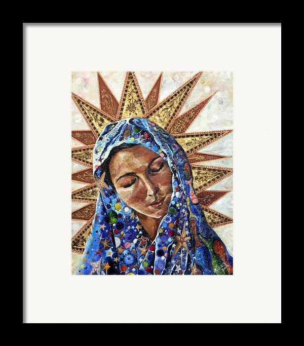 Madonna Of The Dispossessed Framed Print By Mary C Farrenkopf