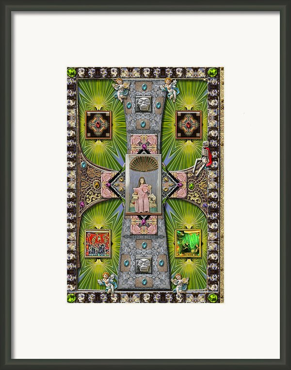 Madonna Of Valladolid Mexico Framed Print By Ron Morecraft