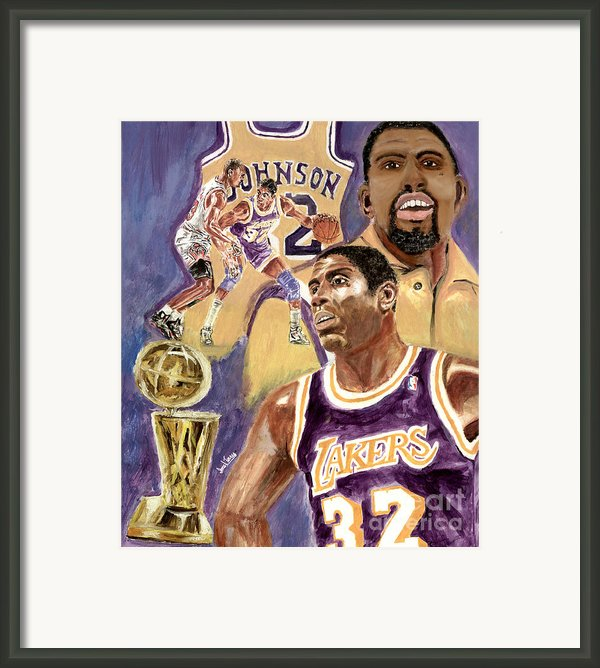 Magic Johnson Framed Print By Israel Torres