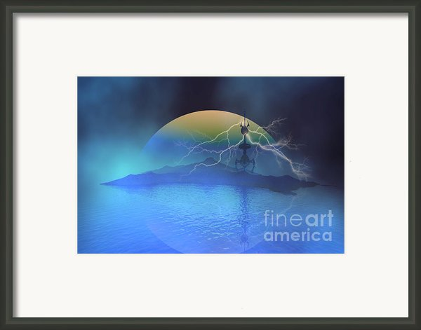 Magnetic Flux Framed Print By Corey Ford
