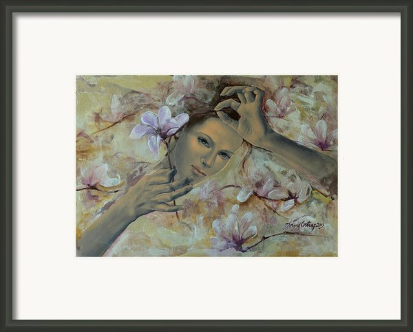 Magnolias Framed Print By Dorina  Costras