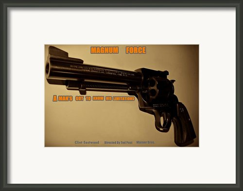 Magnum Force Custom Framed Print By Movie Poster Prints