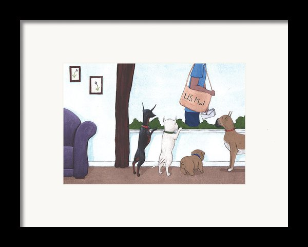 Mailman Framed Print By Christy Beckwith
