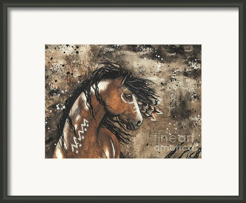 Majestic Mustang Series 61 Framed Print By Amylyn Bihrle