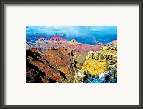 Majesty Of The Canyon Framed Print By Jag Fergus