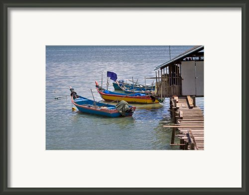 Malaysian Fishing Jetty Framed Print By Louise Heusinkveld