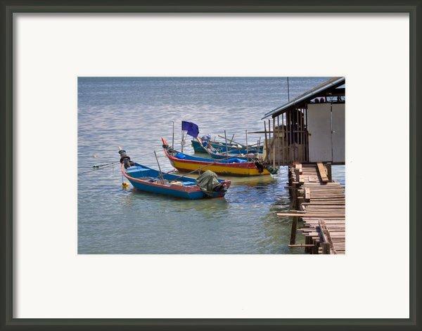 Malaysian Fishing Jetty Framed Print By Louise Heusinkveld
