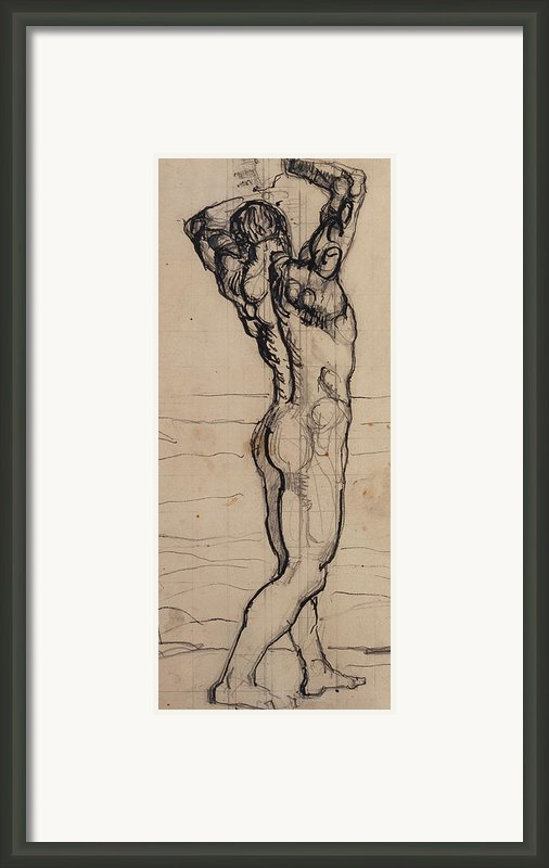 Male Act   Study For The Truth Framed Print By Ferdninand Hodler