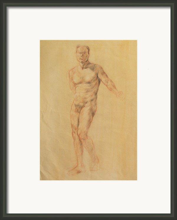 Male Nude 2 Framed Print By Becky Kim