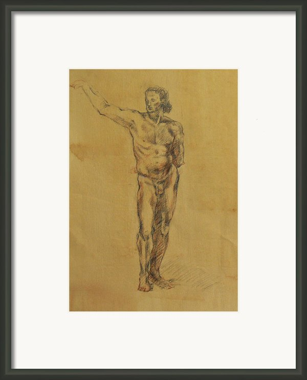 Male Nude 5 Framed Print By Becky Kim