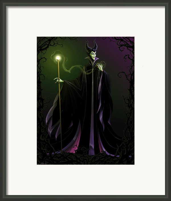 Maleficent Framed Print By Christopher Ables