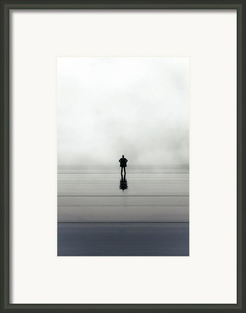 Man Alone Framed Print By Joana Kruse
