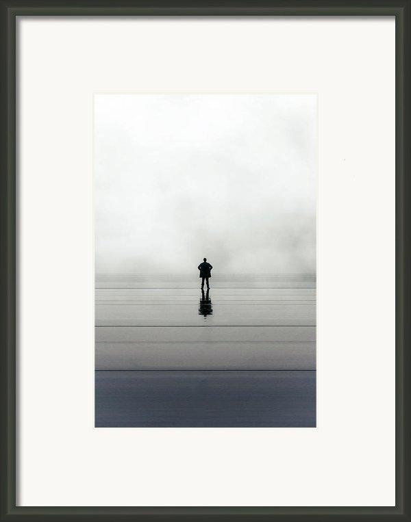 Man Alone Framed Print By Joana Kruse