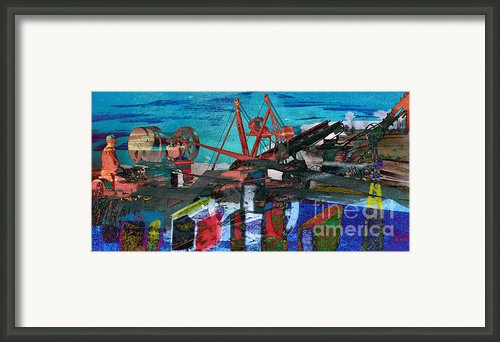 Man And Machines Framed Print By R Kyllo