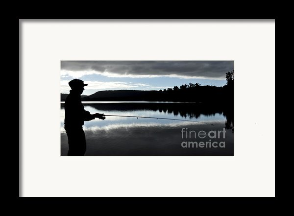Man Fly Fishing Framed Print By Judith Katz