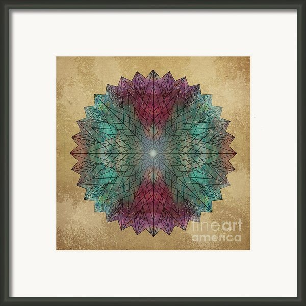 Mandala Crystal Framed Print By Filippo B