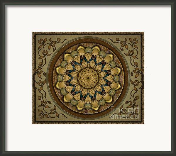 Mandala Earth Shell Sp Framed Print By Bedros Awak
