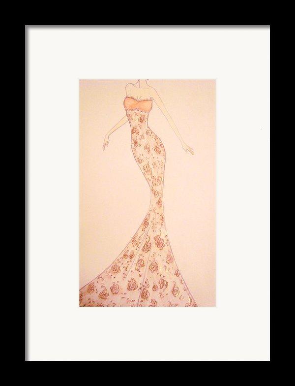 Mandarin Damask Gown Framed Print By Christine Corretti