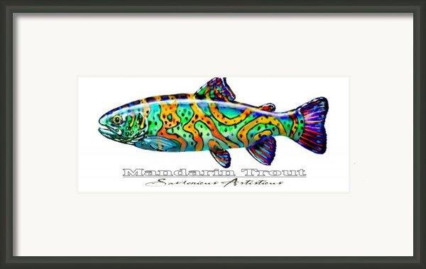 Mandarin Trout Savlenicus Artisticus Framed Print By Mike Savlen