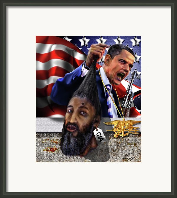 Manifestation Of Frustration - I Am Commander In Chief - Period - On My Watch - Me And My Boys 1-2 Framed Print By Reggie Duffie