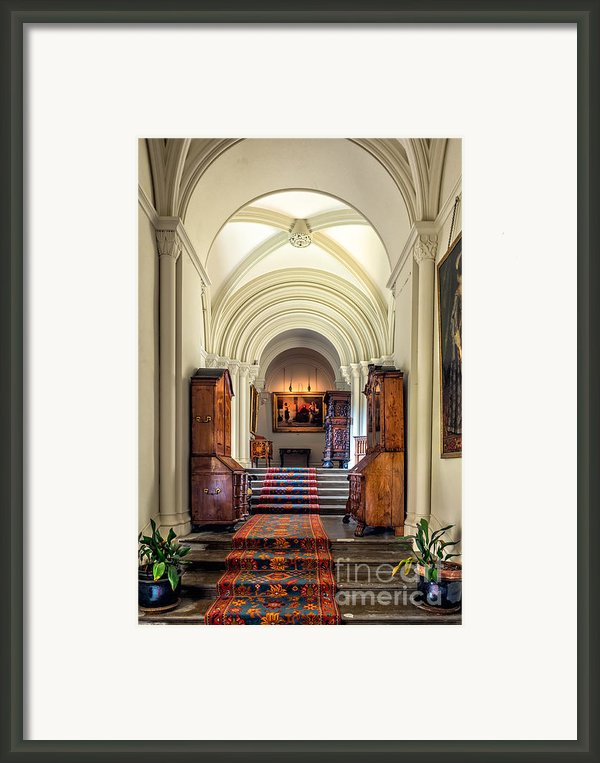 Mansion Hallway Iii Framed Print By Adrian Evans