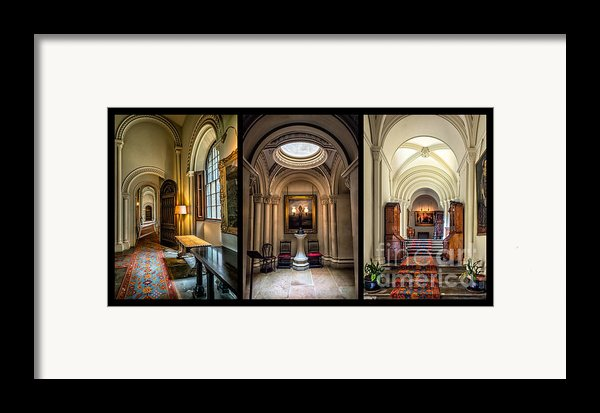Mansion Hallway Triptych Framed Print By Adrian Evans