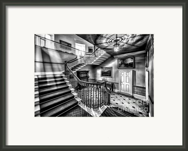 Mansion Stairway V2 Framed Print By Adrian Evans