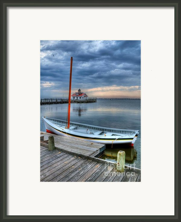 Manteo Waterfront 2 Framed Print By Mel Steinhauer