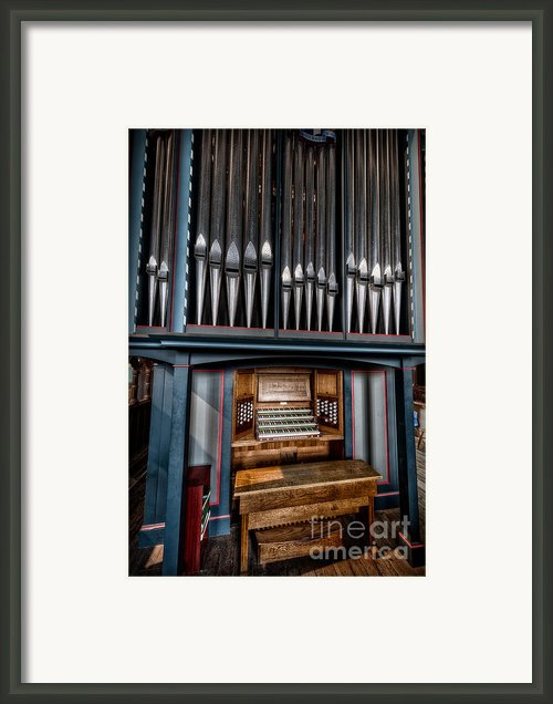 Manual Pipe Organ Framed Print By Adrian Evans