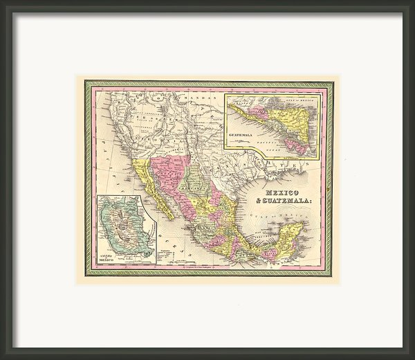 Map Of Mexico Framed Print By Gary Grayson