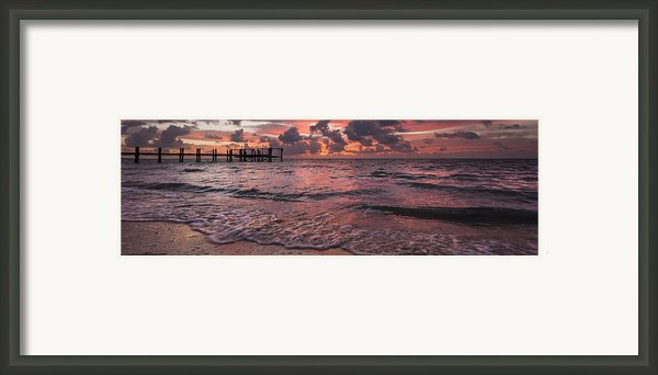 Marathon Key Sunrise Panoramic Framed Print By Adam Romanowicz