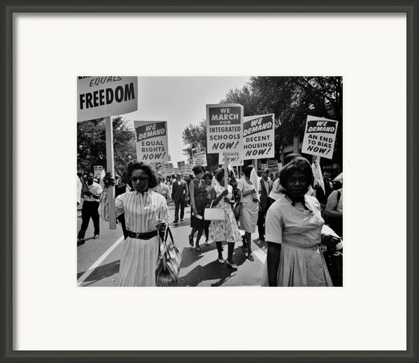 March For Equality Framed Print By Benjamin Yeager