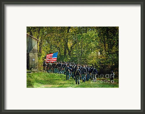 Marching On Straight Into Battle Framed Print By Janelle Oliver