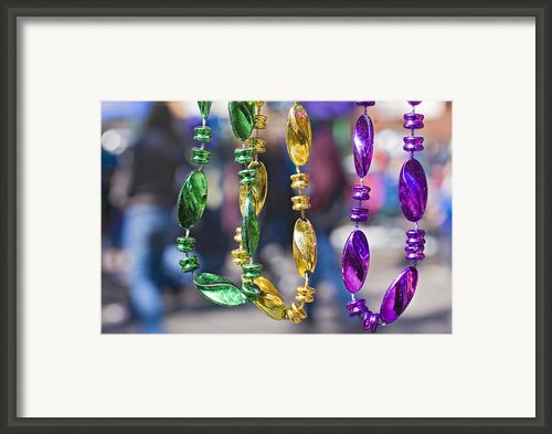 Mardi Gras Beads Framed Print By Ray Devlin