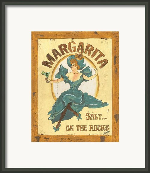 Margarita Salt On The Rocks Framed Print By Debbie Dewitt