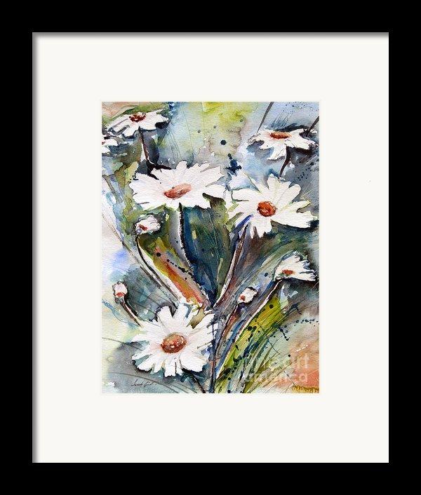 Marguerites Framed Print By Ismeta Gruenwald