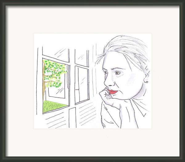 Maria Contemplates Another Wimbledon Victory Framed Print By Steven White