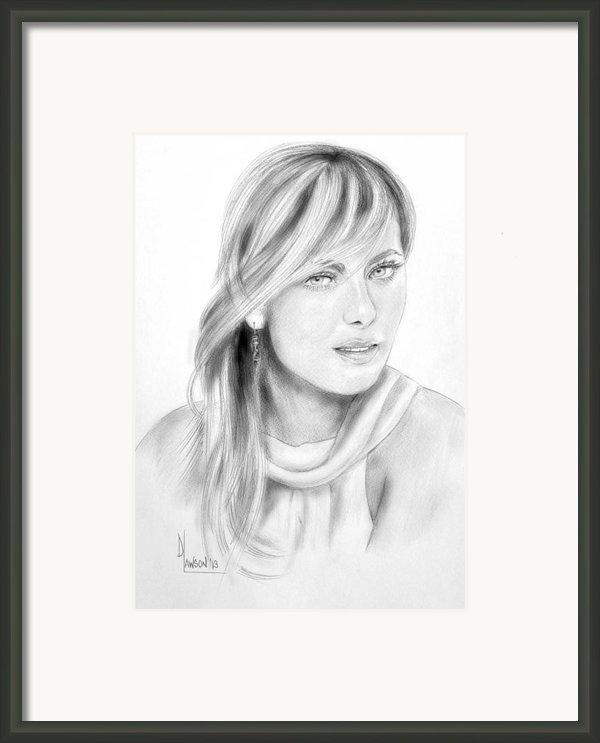 Maria Sharapova Framed Print By Dave Lawson