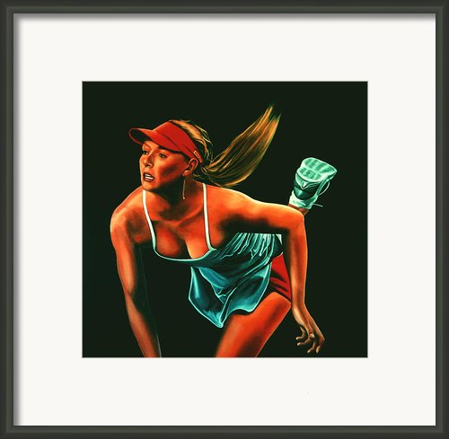 Maria Sharapova  Framed Print By Paul  Meijering