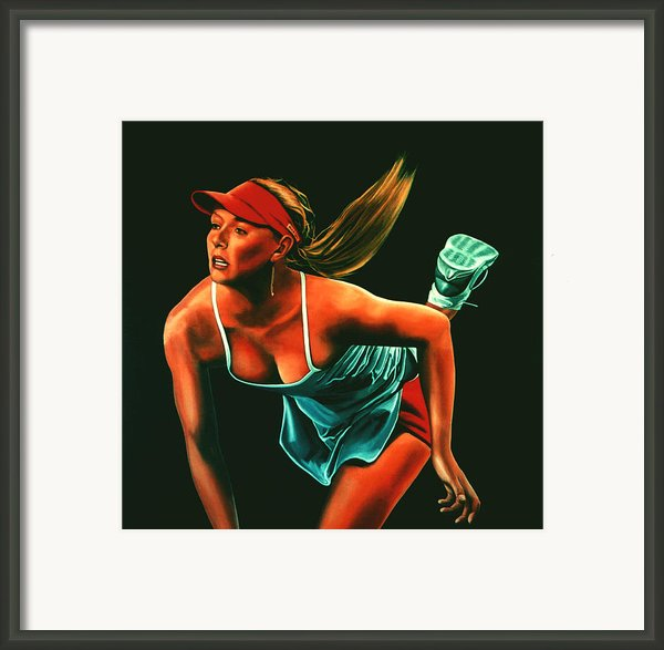 Maria Sharapova  Framed Print By Paul  Meijering
