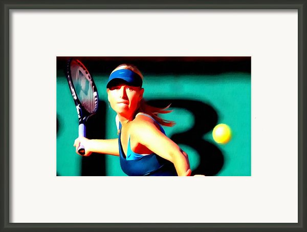Maria Sharapova Tennis Framed Print By Lanjee Chee