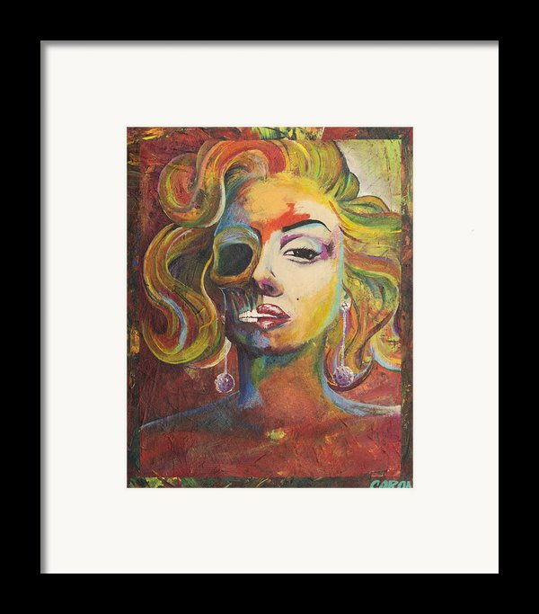 Marilyn Monroe Framed Print By Mike Caron