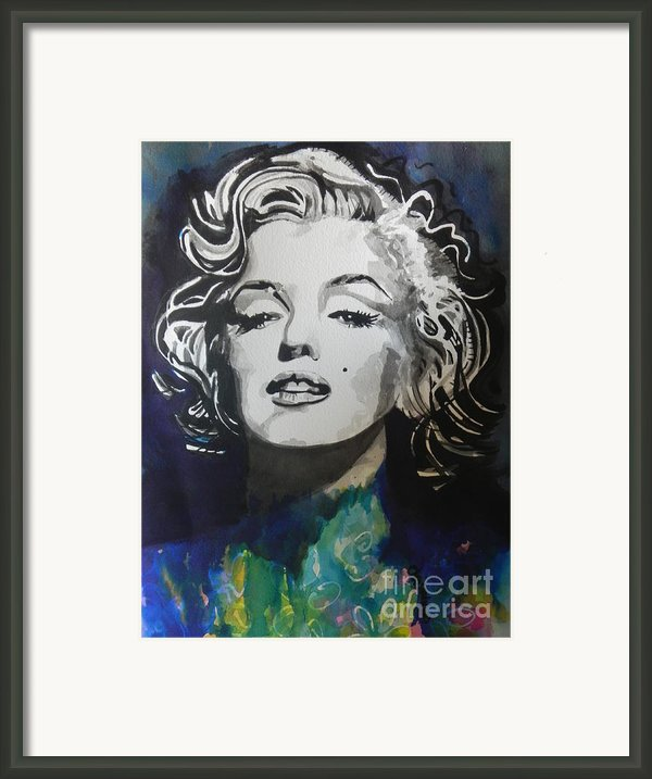 Marilyn Monroe..2 Framed Print By Chrisann Ellis