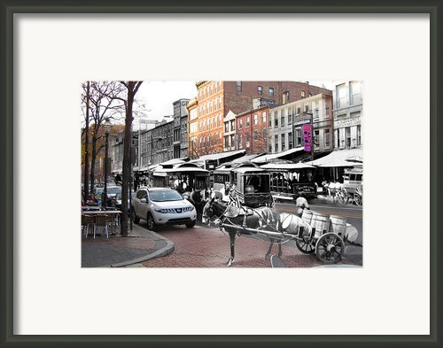 Market Street In Old City Framed Print By Eric Nagy