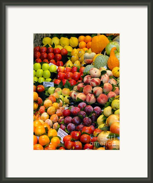 Market Time Ii Framed Print By Sue Melvin