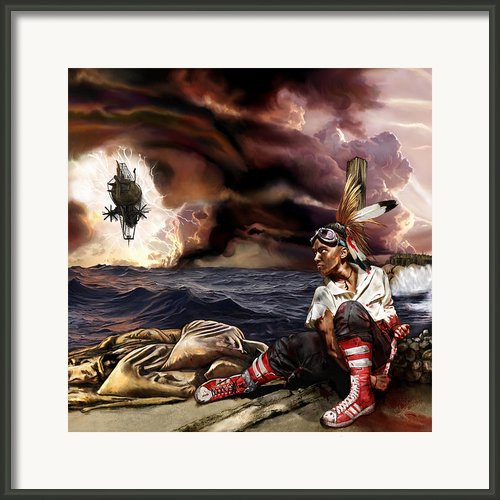 Marooned Framed Print By Mandem