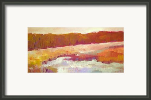 Marsh Moment Framed Print By Carly Hardy
